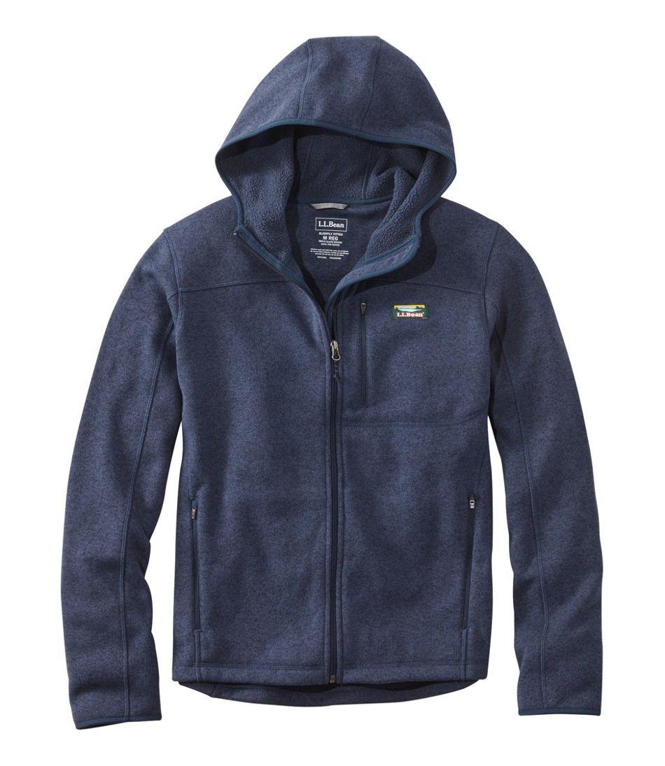 Men's Bean's Sweater Fleece, Hooded Full-Zip Jacket