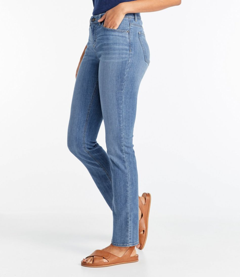 True Shape Tencel Jeans, Straight-Leg