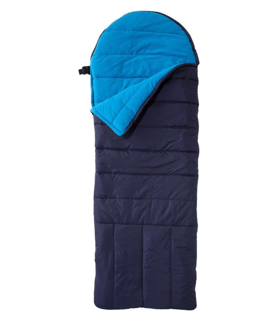Kids' Deluxe Fleece-Lined Camp Bag, 30°