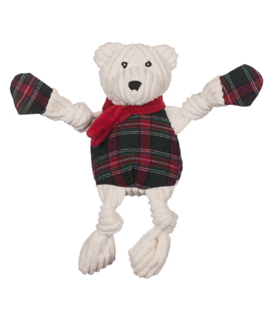 Holiday Knottie Polar Bear Dog Toy