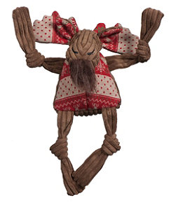 Holiday Knottie Moose Dog Toy