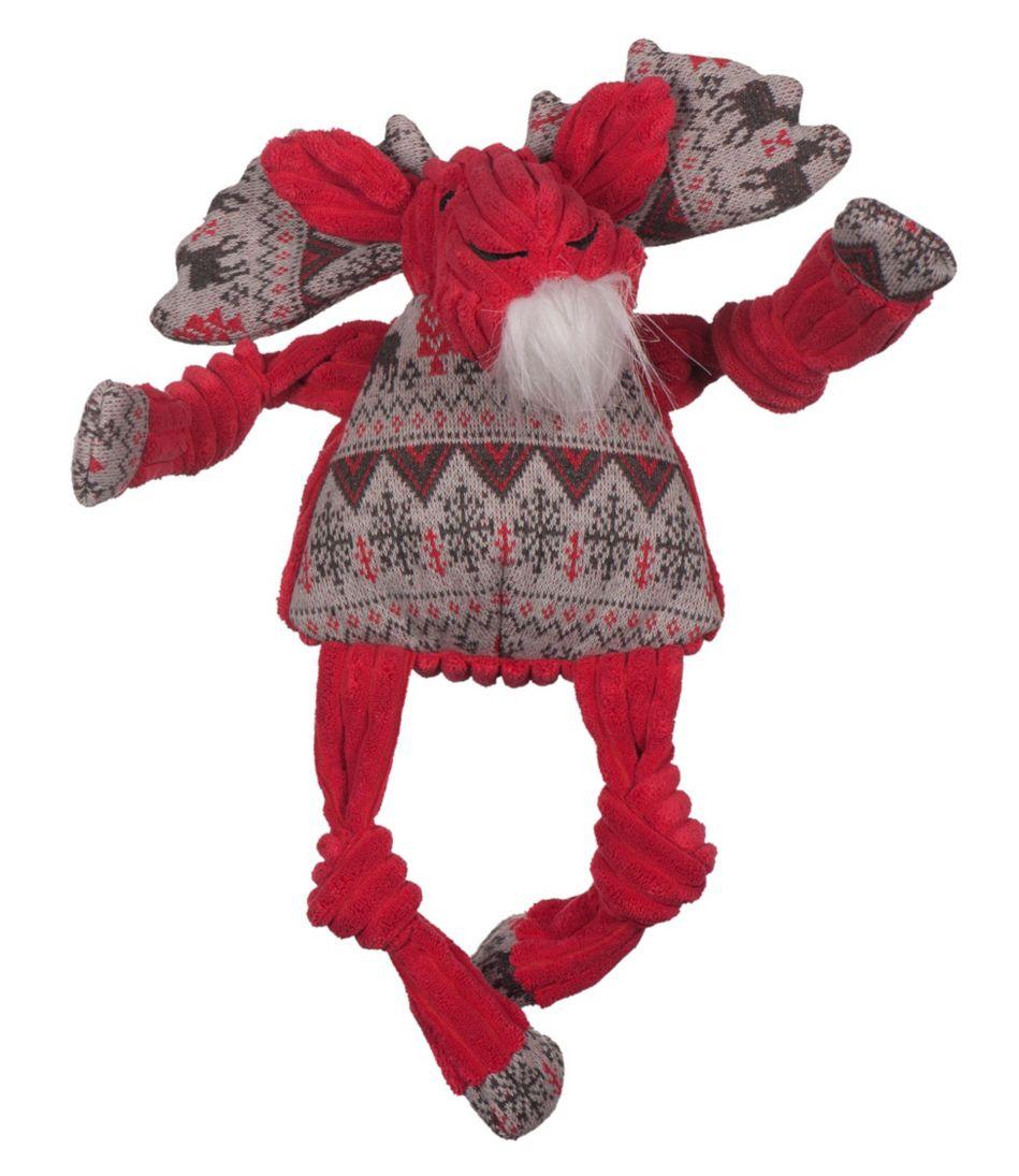 Holiday Knottie Moose Dog Toy