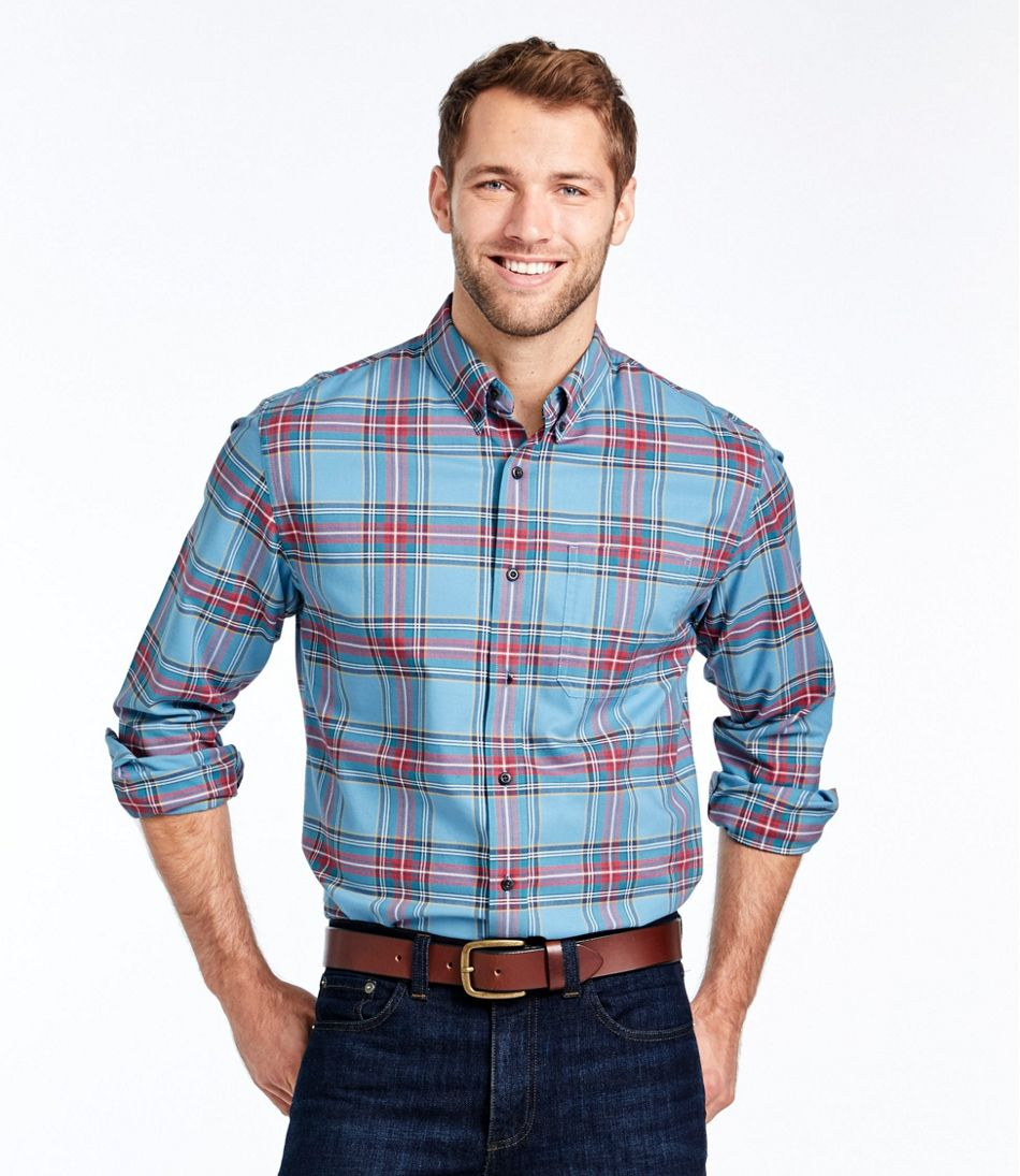 Easy-Care Lakewashed® Shirt, Long-Sleeve, Tartan