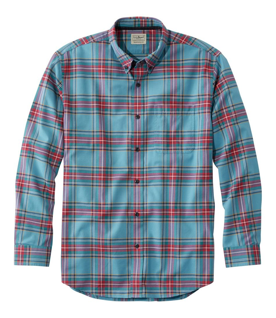 Men's Easy-Care Lakewashed® Shirt, Long-Sleeve, Tartan