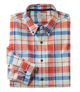 Men's Easy-Care Lakewashed Shirt, Long-Sleeve, Tartan