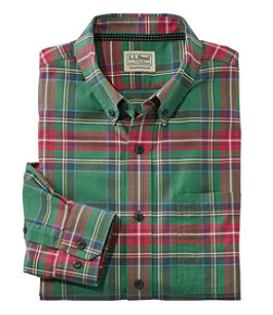 Men's Easy-Care Lakewashed Shirt, Long-Sleeve, Tartan
