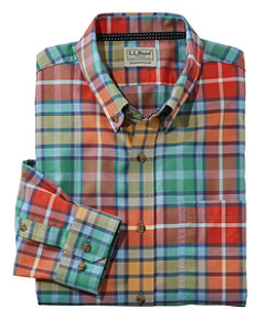 Easy-Care Lakewashed Shirt, Long-Sleeve, Tartan