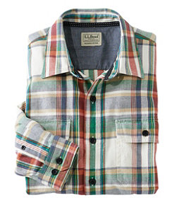 Men's Northwoods Twill Shirt, Long Sleeve, Slightly Fitted Plaid
