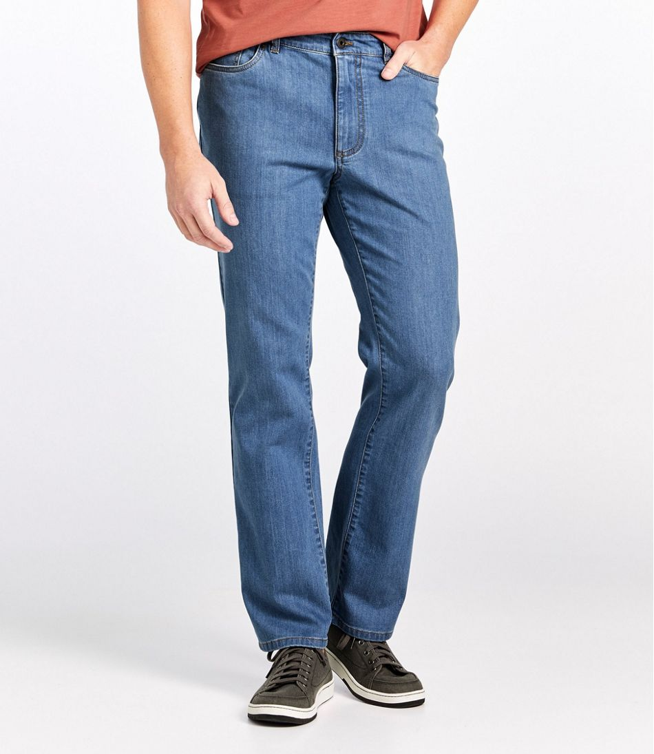 Lakewashed Five-Pocket Pants, Stretch Denim, Standard Fit
