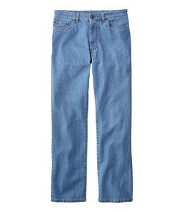 Men's Lakewashed Five-Pocket Pants, Stretch Denim, Standard Fit