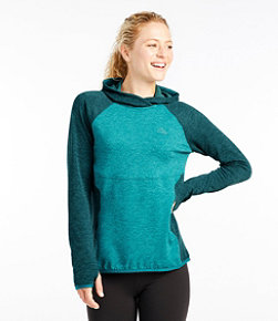 Women's Adventure Grid Fleece Pullover Hoodie, Color Block
