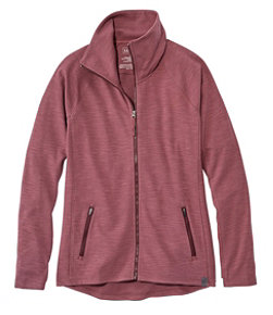 Women's Herringbone Full-Zip Jacket