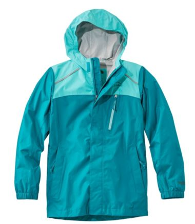 Kids' Trail Model Rain Jacket, Color Block