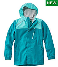 Kids' Trail Model Rain Jacket, Colorblock