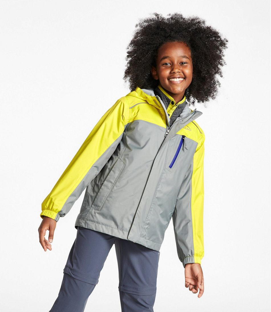 Kids' Trail Model Rain Jacket, Lined, Colorblock