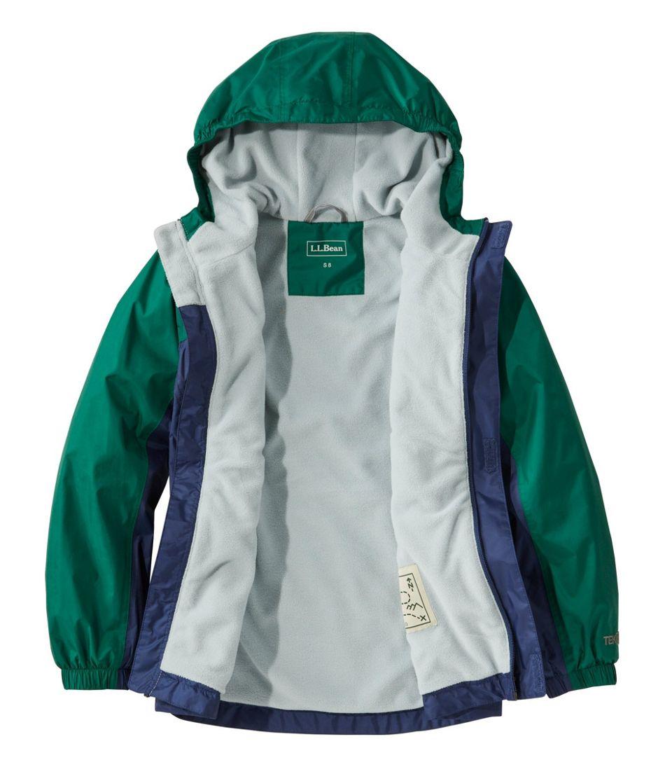 Kids' Trail Model Rain Jacket, Lined, Colorblock
