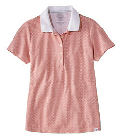 Premium Double L Shaped Polo, Short-Sleeve Print
