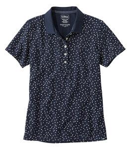 Women's Premium Double L Shaped Polo, Short-Sleeve Print
