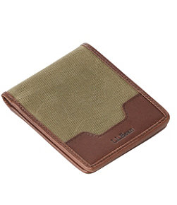 Waxed Canvas Billfold Wallet