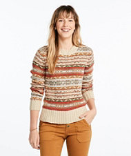 Signature Cotton Slub Sweater, Fair Isle