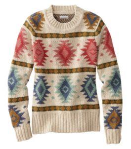 Signature Cotton Slub Sweater, Fair Isle