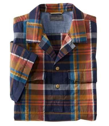 Signature Seersucker Popover Shirt, Short-Sleeve, Plaid