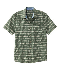Men's Signature Printed Shirt, Short-Sleeve