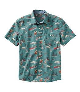 Men's Signature Printed Shirt, Short-Sleeve
