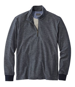 Signature French Terry Pullover, Quarter-Zip, Long Sleeve, Slim Fit