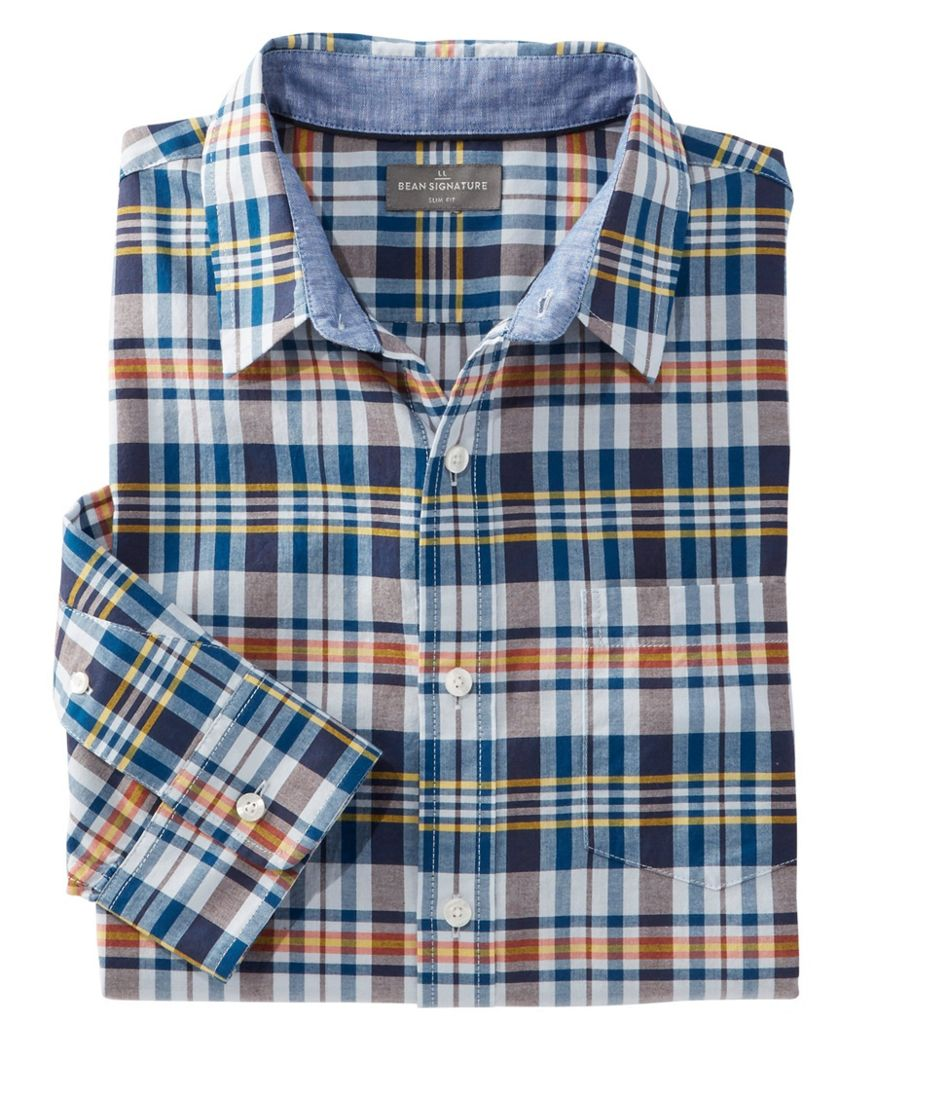 Signature Madras Shirt, Long-Sleeve, Plaid