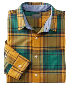 Men's Signature Madras Shirt, Long-Sleeve, Plaid