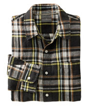 Signature Linen Shirt, Long-Sleeve, Plaid