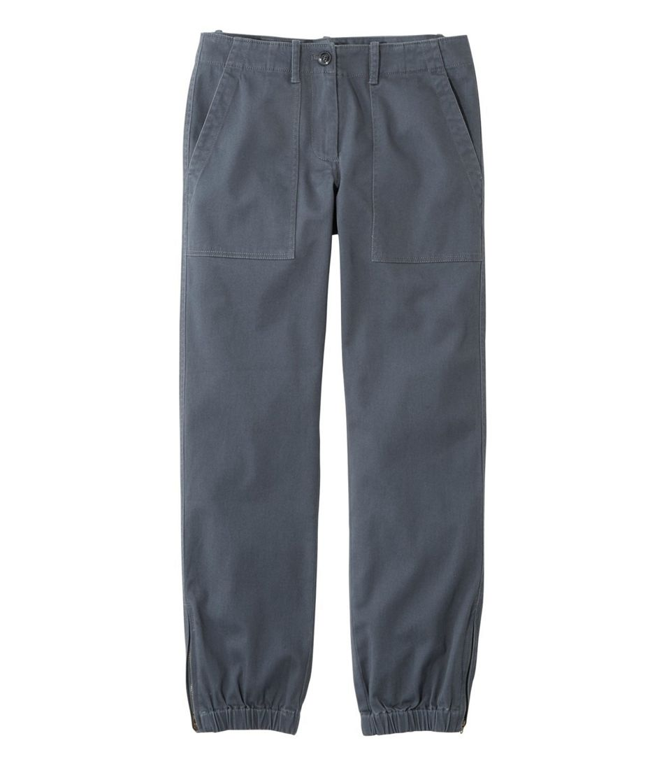 Signature Washed Twill Elastic Cuff Pants