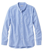 Women's Organic Cotton Button-Front Shirt, Long-Sleeve