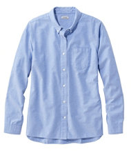 Organic Cotton Button-Front Shirt, Long-Sleeve