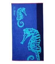 Seaside Beach Towel, Seahorse
