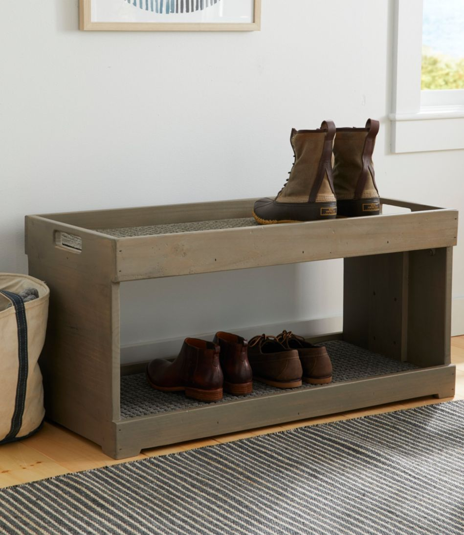 Rustic Wooden Two Tier Boot Tray