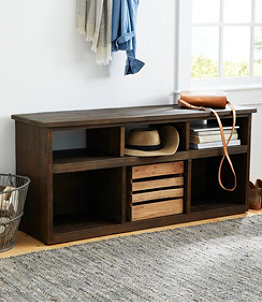 Rough Pine Storage Bench