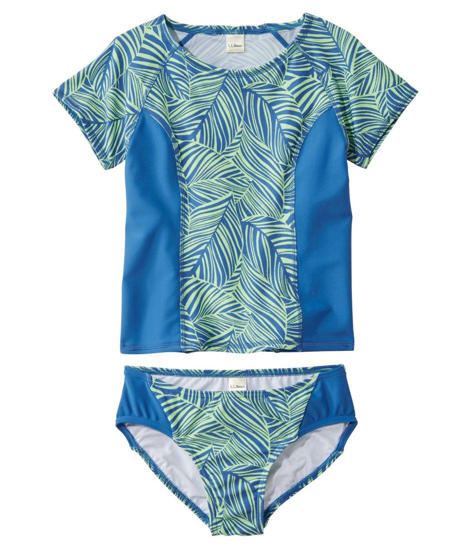 Girls' BeanSport Rashguard Bikini, Lined, Print