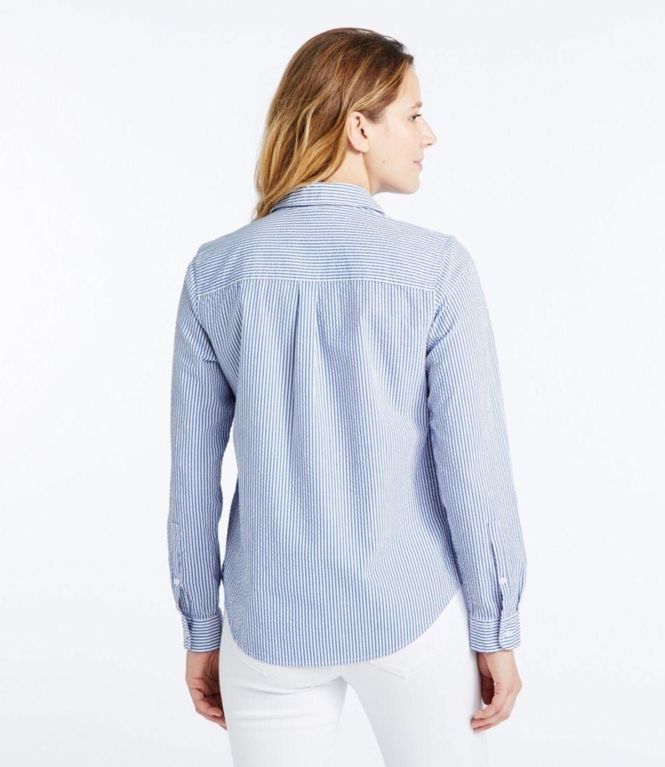 Vacationland Seersucker Shirt, Long-Sleeve