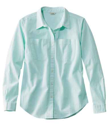Vacationland Seersucker Shirt, Long-Sleeve