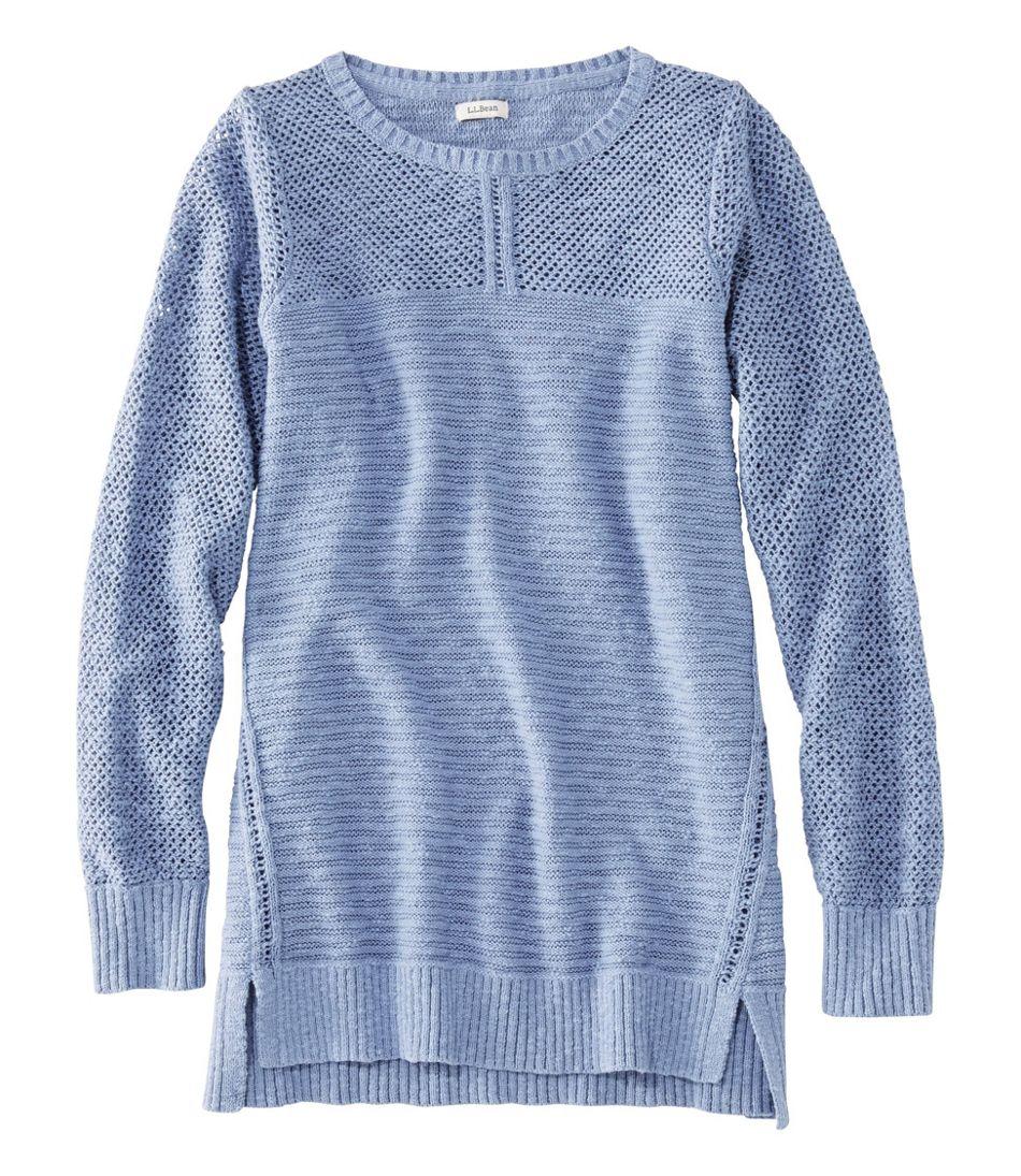 Women's Pointelle Mixed-Stitch Sweater, Tunic