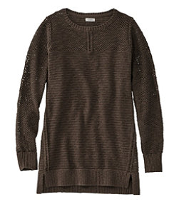 Pointelle Mixed-Stitch Sweater, Tunic
