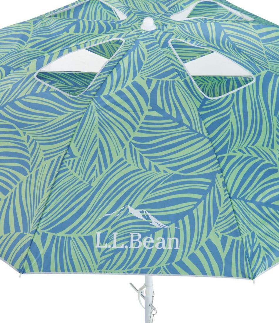 L.L.Bean Wind Challenger Beach Umbrella, Print