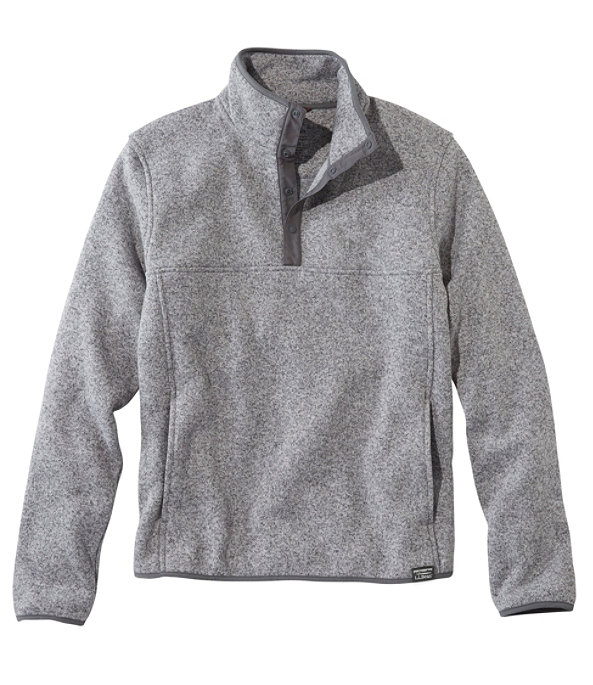 Sweater Fleece Pullover, Grey Heather, large image number 0
