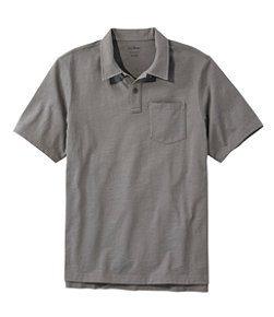 Men's Lakewashed Organic Cotton Polo, Short-Sleeve