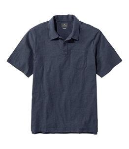 Men's Lakewashed Organic Cotton Polo, Short-Sleeve