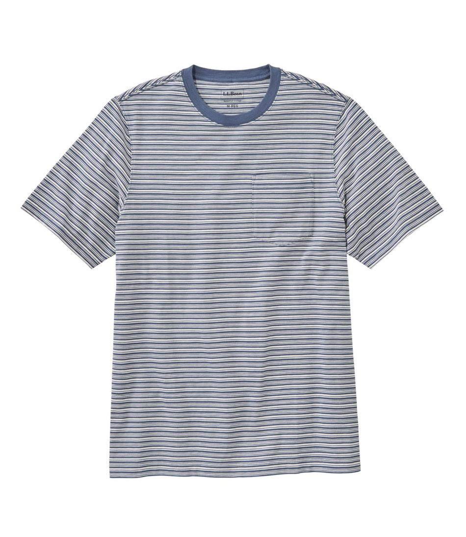Men's Lakewashed® Organic Cotton Pocket Tee, Short-Sleeve, Stripe
