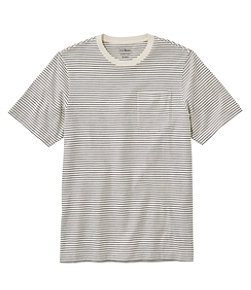 Men's Lakewashed Organic Cotton Pocket Tee, Short-Sleeve, Stripe