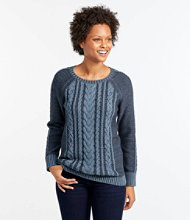 Double L Sweater Boatneck Pullover, Plaited
